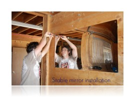 stable mirror installation