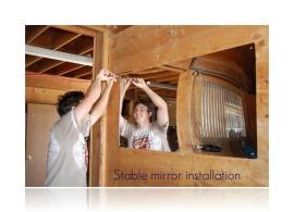 stable mirror installation