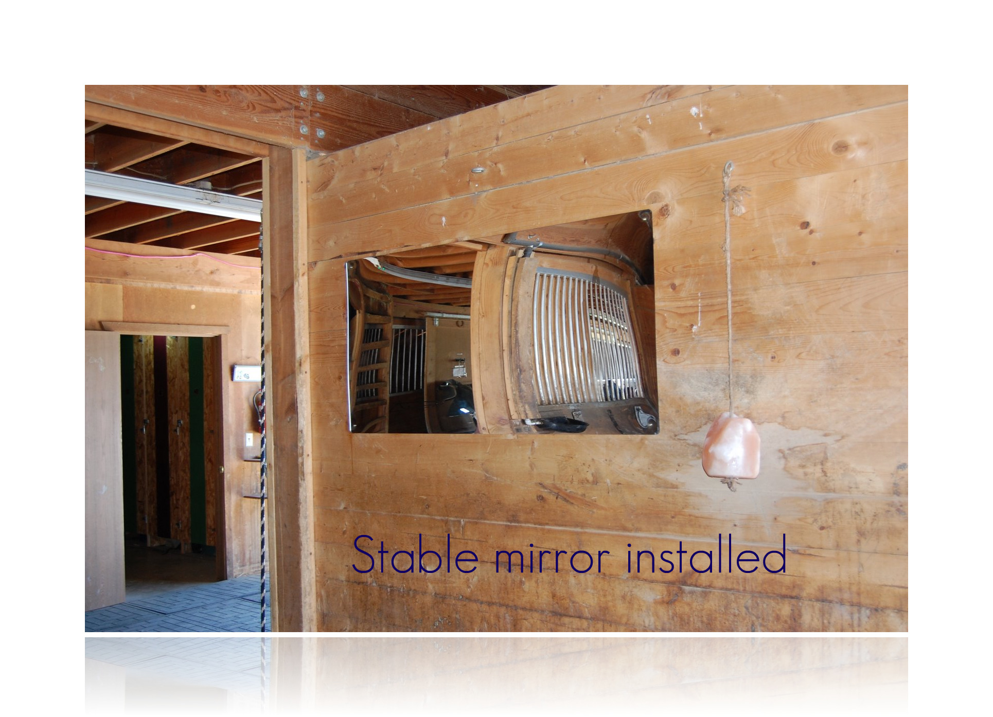 stable mirror installed