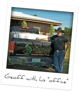 geoff tucker with truck