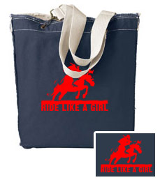 """Ride like a Girl"" jumper tote"