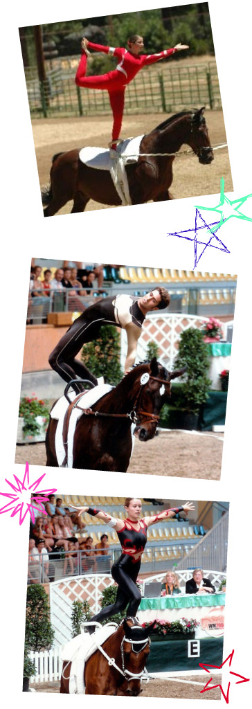 vaulting collage