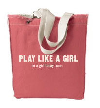 play like a girl tote