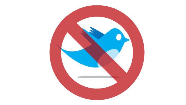 twitter bird red sign