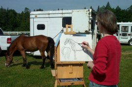 DebbieFloodpleinairdrafthorseshow2 Quick e-mail view