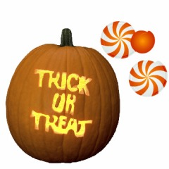 Trick or Treat pumpkin